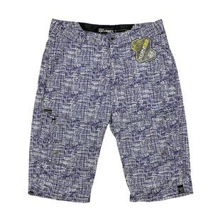 NWT: Oxygen Active Blue Print Shorts